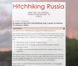 Hitchhiking in Russia